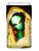 Alien Wearing Lace Mantilla Duvet Cover