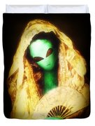 Alien Wearing Lace Mantilla Duvet Cover