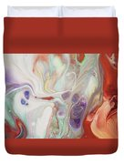 Alien Worlds. Abstract Fluid Acrylic Painting Duvet Cover