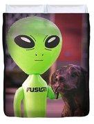 Alien's Best Friend Duvet Cover