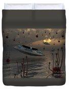 Aliens Celebrate Their Annual Harvest Duvet Cover by Mark Stevenson