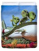 Aliens Spaceship 3 Duvet Cover
