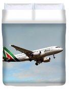Alitalia Airbus A319-112 Duvet Cover