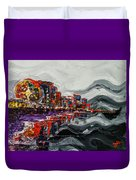 All Along The Grand Strand Duvet Cover