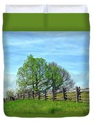 All Fenced In Along The Blue Ridge Parkway Duvet Cover