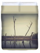 All Is Calm At Green Bottom Duvet Cover