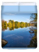 All Is Quiet On The River Duvet Cover
