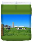 All Is Well In The Farmland Duvet Cover