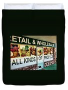 All Kinds Of Produce Duvet Cover