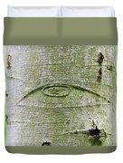 All-seeing Eye Of God On A Tree Bark Duvet Cover