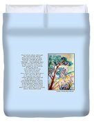 All That I Need - Poetry In Art Duvet Cover