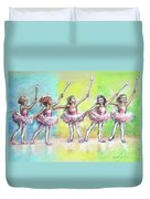 All Together Now...first Ballet Recital Duvet Cover by Laurie Shanholtzer