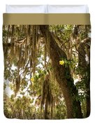 Allamanda And Oak Tree Duvet Cover
