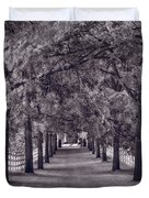 Allee Way Bw Duvet Cover