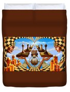 Allegory Of Chess. Equal Exchange Duvet Cover
