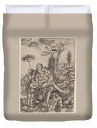 Allegory Of Mother Earth Duvet Cover
