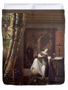 Allegory Of The Faith Duvet Cover by Jan Vermeer