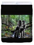 Allen And Steve Jam With Friends On Mt. Spokane Duvet Cover