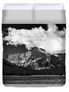 Allen Mountain Towers Over Swift Current Lake Duvet Cover