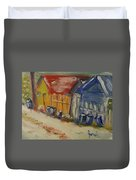 Alley In Winter  Duvet Cover