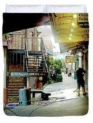 Alley Market End Of Day Duvet Cover