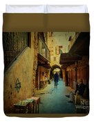 Alley Of Old Sidon Duvet Cover