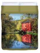 Alley Spring Mill Reflection Duvet Cover