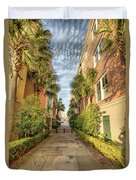 Alleyway In Chaleston Duvet Cover