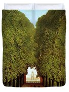 Alleyway In The Park Duvet Cover by Henri Rousseau