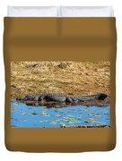 Alligator In The Sun Duvet Cover