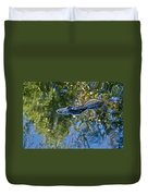 Alligator Stalking Duvet Cover