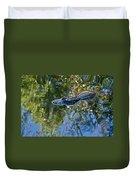 Alligator Stalking Duvet Cover
