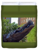 Alligator Statue 4 Duvet Cover
