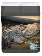 Crocodile Time  Duvet Cover