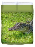 Alligator Up Close  Duvet Cover