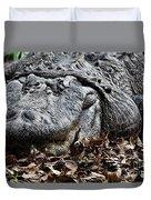 Alligator Waiting Duvet Cover