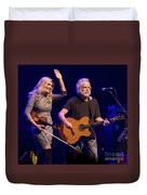 Allison Krauss And Bob Wier Duvet Cover