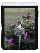 Allium Blossom With Cap Duvet Cover