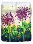 Allium Explosion Duvet Cover