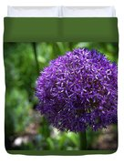 Allium Gladiator Closeup Duvet Cover