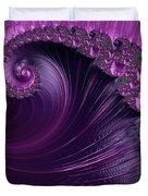 Alluring Purple Spiral Duvet Cover