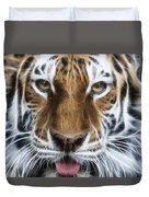 Alluring Tiger Duvet Cover by Jeff Swanson