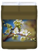 Almond Tree Branch Duvet Cover
