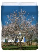 Almond Tree Cottage Duvet Cover