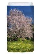 Almond Tree In Meadow Duvet Cover