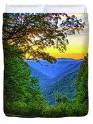 Almost Heaven - West Virginia 3 - Paint Duvet Cover