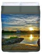 Almost Sunset In Pawleys Island Duvet Cover