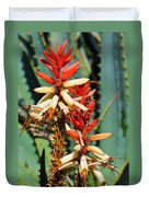 Aloe Bloom Desert Garden Duvet Cover