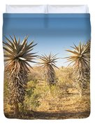 Aloe Vera Trees Botswana Duvet Cover
