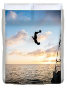 Aloft Into The Amber Skies Duvet Cover